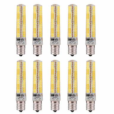 abordables Ampoules électriques-10pcs 5 W Ampoules Maïs LED 1000-1200 lm E14 T 136 Perles LED SMD 5730 Intensité Réglable Décorative Blanc Chaud Blanc Froid 220 V 110 V