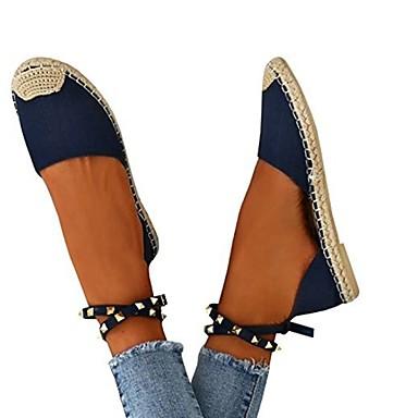 Kadın's Düz Ayakkabılar Düz Taban Yuvarlak Uçlu PU Yaz Beyaz / Mavi / Pembe