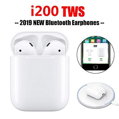 billige Sterkt anbefalt-originale i200 tws ekte pop-up-berøringsfunksjon trådløs lading ørepropper bluetooth 5.0 6d bass øretelefon