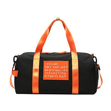 abordables Sacs-Etanche Nylon Fermeture Sac de Voyage Bloc de Couleur Professionnel Noir / Orange / Homme / Automne hiver