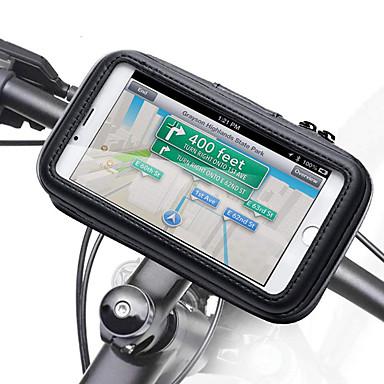 voordelige Auto-organizers-motorfiets stuur telefoon houder ritsvak waterdichte pu lederen accessoires