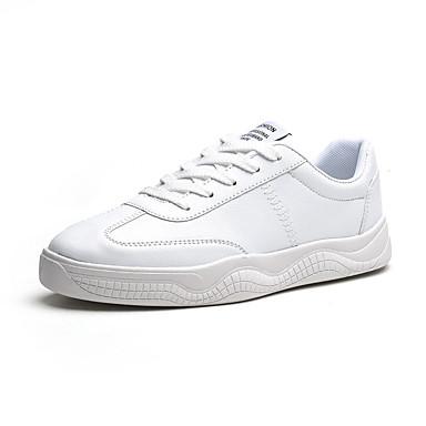 Erkek Ayakkabı PU Sonbahar Günlük Spor Ayakkabısı Günlük için Siyah / Beyaz / Bej