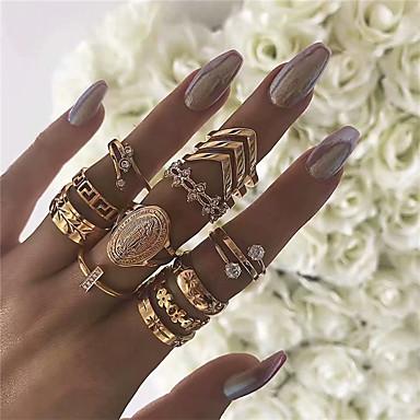 billige Motering-Dame Nail Finger Ring / Ring Set / Midi Ring Opal 13pcs Gull Opal / Legering Rund / Annerledes Vintage / Bohemsk / Mote Fest / Gave / Karneval Kostyme smykker / Hjerte
