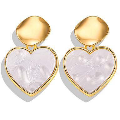 Kadın's Damla Küpeler Halka Küpeler Küpe Retro Kalp Bohem Romantik Etniczne Moda Reçine Altın Kaplama Küpeler Mücevher Altın Uyumluluk Hediye Günlük Karnaval Balo Tatil 1 çift