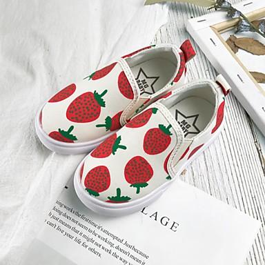 baratos Sapatos de Criança-Para Meninas Lona Mocassins e Slip-Ons Little Kids (4-7 anos) Conforto Preto / Branco Verão