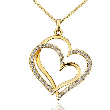 voordelige Dames Sieraden-Dames Wit Synthetische Diamant Ketting Rolo Hart Kokosnootboom Modieus Kromi Goud Rose Goud Zilver 40+5 cm Kettingen Sieraden 1pc Voor Lahja