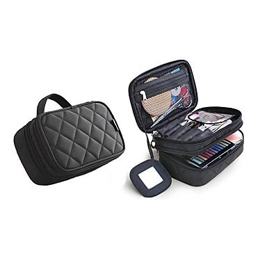 ieftine Genți-Fermoar Geantă Cosmetice Culoare solidă Culoare solidă Nailon Zilnic Negru / Fucsia / Roz