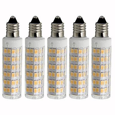 billige Elpærer-5pcs 4.5 W LED-kornpærer 450 lm E11 T 76 LED perler SMD 2835 Mulighet for demping Varm hvit Kjølig hvit 110 V