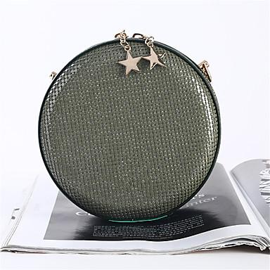 abordables Sacs-Femme Paillettes / Fermeture Polyester / Alliage Pochette Couleur unie Rose Claire / Jaune / Vert foncé / Automne hiver