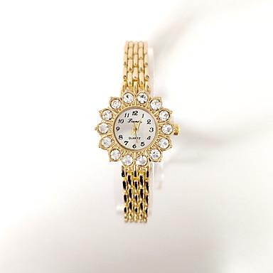 baratos Relógios Senhora-Mulheres Bracele Relógio Cristal Boêmio Fashion Dourada Lega Chinês Quartzo Dourado Relógio Casual Adorável 1 Pça. Analógico-Digital Um ano Ciclo de Vida da Bateria