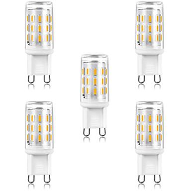 5pcs 3 W LED Mısır Işıklar LED Bi-pin Işıklar 300 lm G9 T 33 LED Boncuklar SMD 4014 Sıcak Beyaz Beyaz 220-240 V