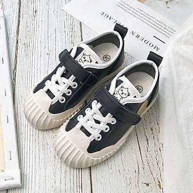 baratos Sapatos de Criança-Para Meninos / Para Meninas Microfibra Tênis Little Kids (4-7 anos) Conforto Preto / Branco / Rosa claro Verão
