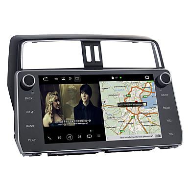 voordelige Automatisch Electronica-10.2inch 1 din android 8.0 auto-navigator touchscreen auto verstelbare multimedia dvd-speler voor toyota nieuwe prado 2018