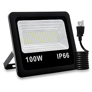 저렴한 실외 조명-1 개 100 W LED 투광 조명 방수 / 뉴 디자인 / 장식 따뜻한 화이트 / 화이트 85-265 V 실외 조명 / 안마당 / 가든 200 LED 비즈