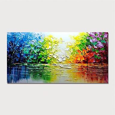 halpa Seintätaide-Hang-Painted öljymaalaus Maalattu - Abstrakti Maisema Moderni Sisällytä Inner Frame