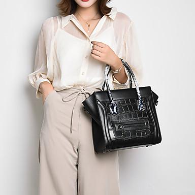 baratos Super Ofertas-Mulheres Ziper PU Conjuntos de saco Côr Sólida 2 Pcs Purse Set Vermelho / Cinzento / Marron / Outono & inverno