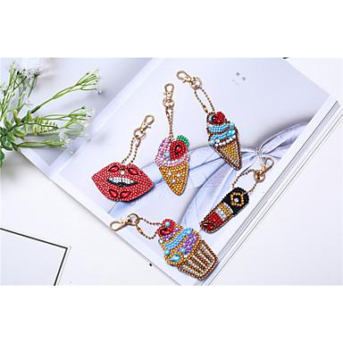 baratos Bijuteria de Mulher-Chaveiro Ornamento Sorvete Anéis Jóias Arco-Íris Para Presente