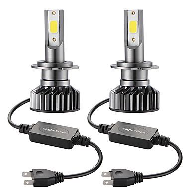 Недорогие Автомобильные фары-Мини-автомобиль светодиодная лампа головного света h7 привет / ло 72 Вт 10000lm 6000 К автомобильная фара