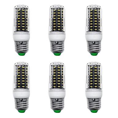 billige Elpærer-6pcs 9 W LED-kornpærer 900 lm E14 G9 GU10 T 72 LED perler SMD 4014 Nytt Design Varm hvit Hvit 220-240 V 110-120 V