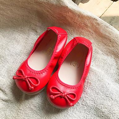 baratos Sapatos de Criança-Para Meninas Couro Ecológico Rasos Little Kids (4-7 anos) Conforto Preto / Leopardo / Vermelho Verão