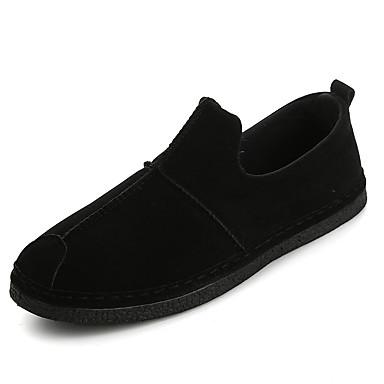 Erkek Ayakkabı PU Sonbahar Günlük Mokasen & Bağcıksız Ayakkabılar Günlük için Siyah / Kırmzı / Kahverengi