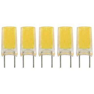 billige Elpærer-5pcs 2 W LED-lamper med G-sokkel 260 lm G8 1 LED perler COB Nytt Design Smuk Varm hvit Kjølig hvit 220-240 V