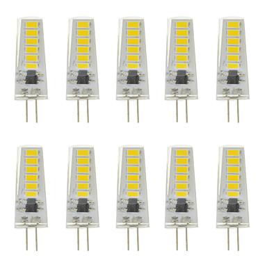abordables Ampoules électriques-10pcs 3 W LED à Double Broches 300 lm G4 T 12 Perles LED SMD 5730 Design nouveau Blanc Chaud Blanc / 12-24 V