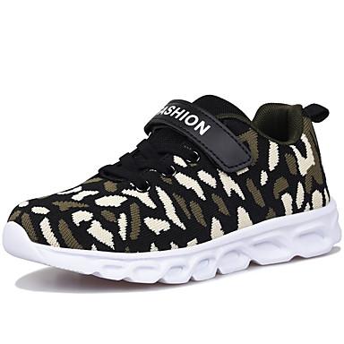 baratos Sapatos de Criança-Para Meninos Algodão Tênis Big Kids (7 anos +) Conforto Caminhada Preto / Verde / Vermelho Primavera