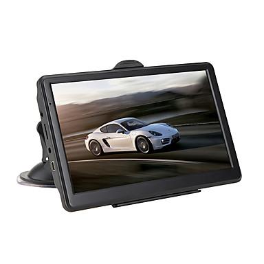 billige GPS-navigasjon for bil-7 tommers hd ram 256mb rom 8g bil gps navigator berøringsskjerm for universal microusb støtte avi / mpg / dat mp3 / wma / wav jpeg / gif / bmp