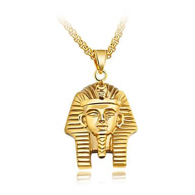 billige Mote Halskjede-Herre Anheng Halskjede Byzantine Tro Det gamle Egypt Titanium Stål Gull Sølv 55 cm Halskjeder Smykker 1pc Til Gave Skole Gate Klubb Love