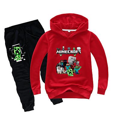 preiswerte Kleidersets für Jungen-Kinder Baby Jungen Grundlegend Druck Druck Langarm Standard Standard Kleidungs Set Schwarz