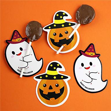 voordelige Feestbenodigdheden-50 stks halloween papier suiker kaart feestelijke partij decoraties pakket halloween benodigdheden