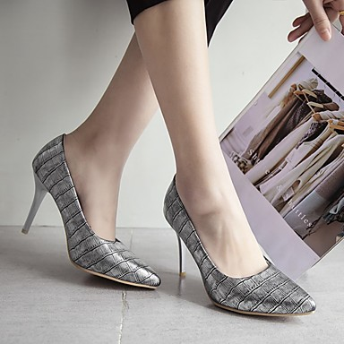 Kadın's Topuklular Stiletto Topuk Sivri Uçlu Suni Deri Günlük / Minimalizm Yürüyüş İlkbahar & Kış / İlkbahar yaz Siyah / Badem / Altın / Çizgili