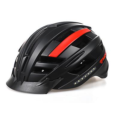 billige Hjelmer-Voksne sykkelhjelm BMX Hjelm 16 Ventiler PC (polykarbonat) EPS sport Utendørs Trening Sykling / Sykkel - Svart / Rød Himmelblå+Hvit Unisex