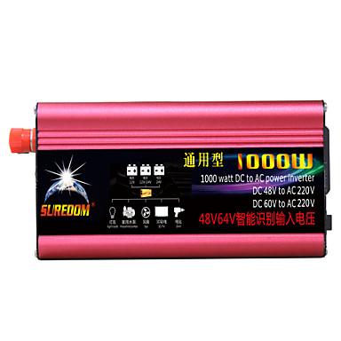 povoljno Alati i oprema-visokokvalitetni inverter za napajanje automobila 48vand60v do 220v 1000w višenamjenski punjač / pretvarač / pretvarač za automobil s usb utičnicom