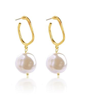 Women's Drop Earrings Earrings Dangle Earrings Geometrical Shell Bohemian Fashion Imitation Pearl Gold Plated Earrings Jewelry Gold For Daily Prom Holiday Bar Festival 1 Pair