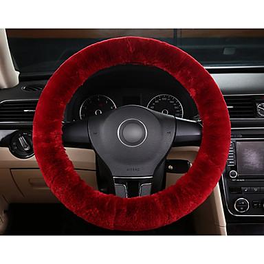 voordelige Auto-interieur accessoires-teak wol zacht stuurhoes beschermer auto-accessoire