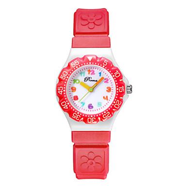 baratos Relógios Homem-Para Meninas Relógio Elegante Quartzo Couro PU Preta / Azul / Vermelho 30 m Impermeável Criativo Analógico-Digital Desenho - Preto Roxo Vermelho Um ano Ciclo de Vida da Bateria