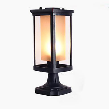 Sütun lambası açık su geçirmez ayağı lambası siyah ticari park veranda için deco aydınlatma chapiter lambaları alüminyum