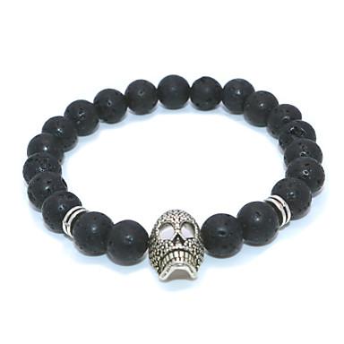 abordables Bracelet-Bracelet à Perles Homme Femme Classique Chouette Décontracté / Sport Ethnique Bracelet Bijoux Noir Blanche pour Quotidien Plein Air