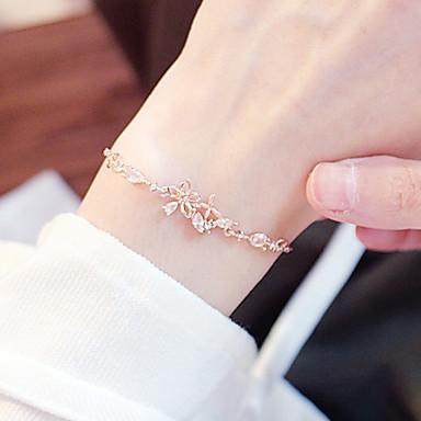 abordables Bracelet-Bracelets Vintage Boucles d'oreilles / Bracelet Femme Clair Fleur Papillon simple Coréen Mode Le style mignon Elégant Bracelet Bijoux Dorée Irrégulier pour Quotidien