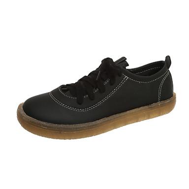 Kadın's Spor Ayakkabısı Düz Taban PU İlkbahar & Kış Siyah / Pembe / Bej
