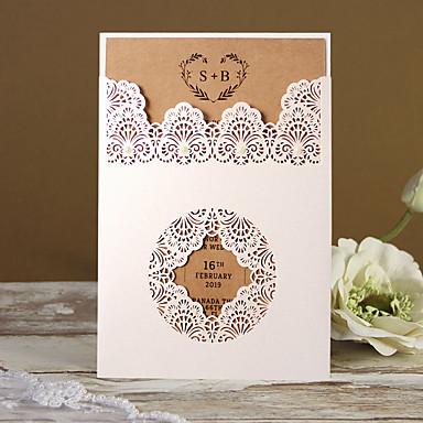 "cheap Wedding Invitations-Flat Card Wedding Invitations 50 pcs - Invitation Cards / Thank You Cards / Response Cards Kraftpaper 5""×7 ¼"" (12.7*18.4cm)"