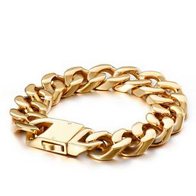 voordelige Herensieraden-Heren Dames Armbanden met ketting en sluiting Box Chain Luxe Klassiek Dubai Hip Hop Verguld Armband sieraden Goud Voor Bruiloft Dagelijks
