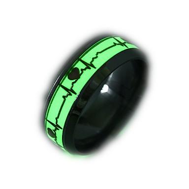 billige Motering-Herre / Dame Band Ring / Ring / Tail Ring 1pc Gull / Sølv Rustfritt Stål Sirkelformet Vintage / Grunnleggende / Mote Gave / Daglig / Love Kostyme smykker / Hjerte