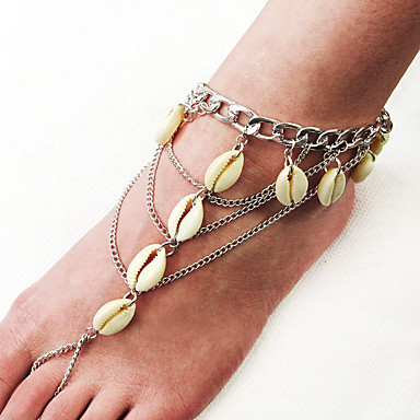 voordelige Dames Sieraden-Dames Blote voeten sandalen Schelp Enkelring Sieraden Zilver Voor Feest Dagelijks Straat Feestdagen Festival
