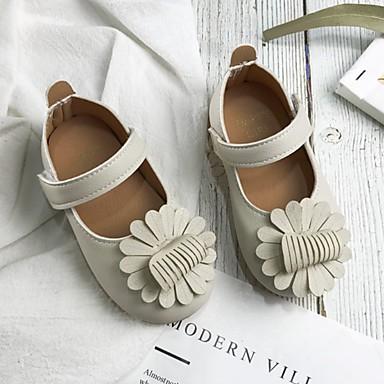 baratos Sapatos de Criança-Para Meninas Microfibra Rasos Little Kids (4-7 anos) Sapatos para Daminhas de Honra Branco / Rosa claro Verão
