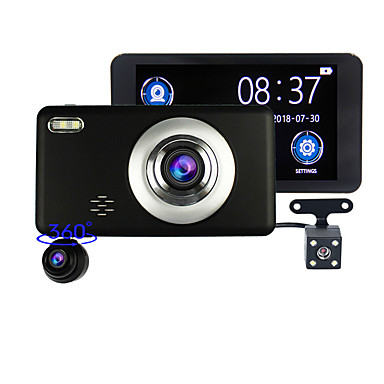 billige Bil-DVR-bilopptaker 3 objektiv 360 graders rotasjon foran integrert dobbelt 1080p treveiskamera