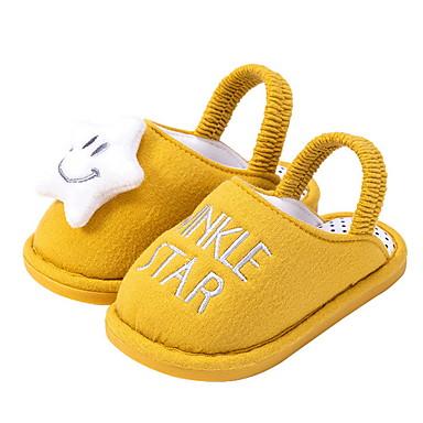 baratos Sapatos de Criança-Para Meninas Tricô Chinelos e flip-flops Crianças (0-9m) Primeiros Passos Verde / Amarelo / Rosa claro Outono