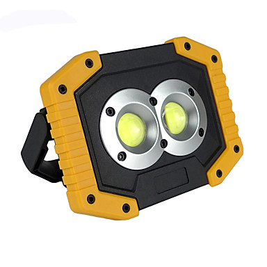 billige Lommelykter & campinglykter-CL-0044 Led Lys Nødlys LED LED emittere 750-1200 lm Automatisk lys tilstand med batteri og USB-kabel Bærbar Vindtett Holdbar Camping / Vandring / Grotte Udforskning Fisking Hvit Lyskilde Farge Gul